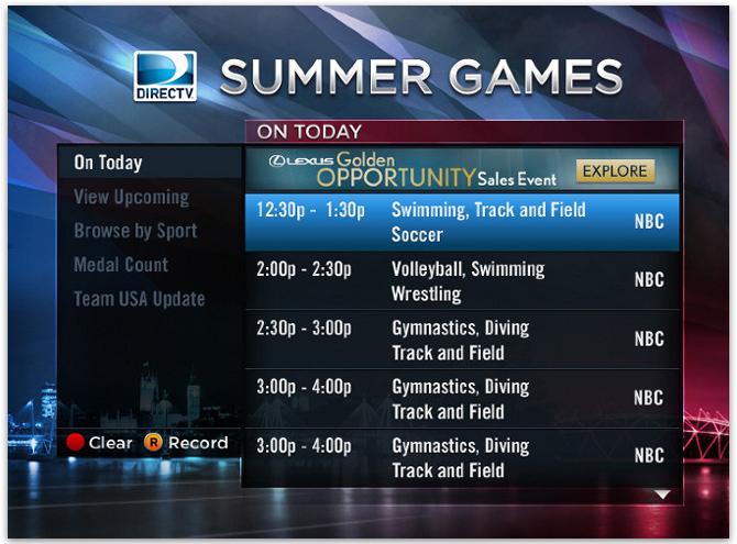 directv summer olympics tv app