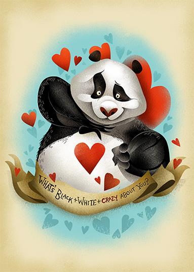 Panda Love - Dave Mottram - Illustrator