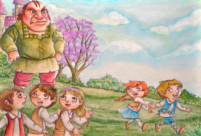 the selfish giant coloring pages the selfish giant watercolor - Selfish Giant Coloring Pages